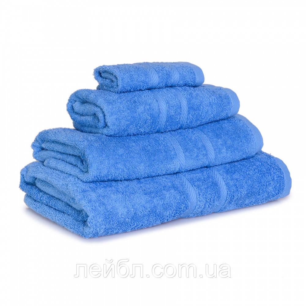 Махровое полотенце Luxury, Синий (Салфетка 30*30см)
