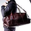 Сумка дорожная саквояж кожаный коричневый Eminsa 6545-4-3, фото 6