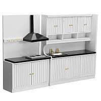 Кухонная мебель Миниатюрная мебель Шкафы для кухни Шкафы для раковины ручной работы для детей