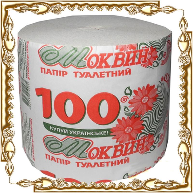"""Туалетная бумага """"Моквин"""" 100 Ровно 48 шт./уп."""