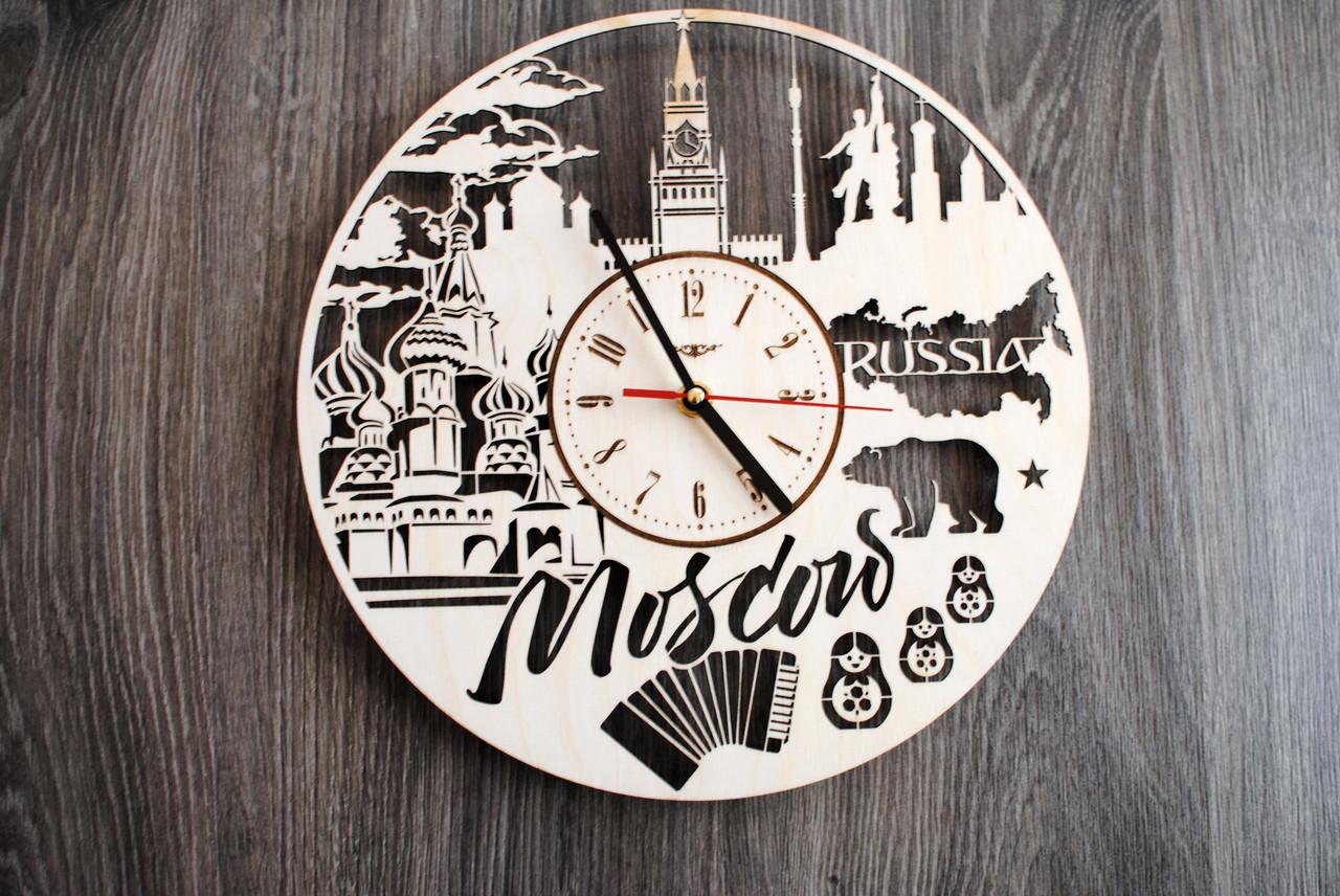 Интерьерные часы на стену «Москва, Россия»