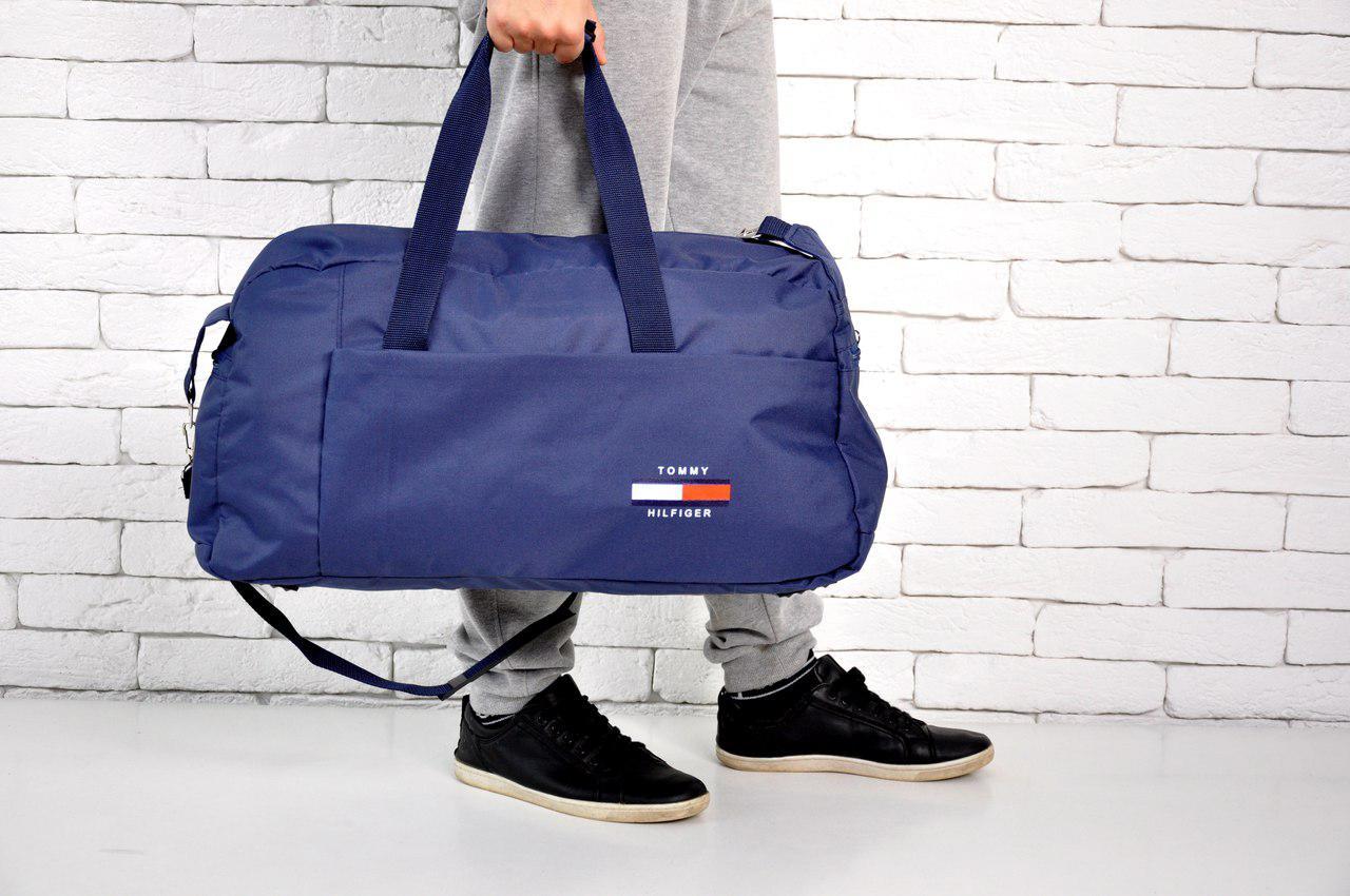 f30bd07bca89 Спортивная сумка Tommy Hilfiger , Темно-синяя, Текстиль+полиэстер, Ремешок  на плечо
