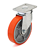 Колеса чугун/полиуретан, диаметр 350 мм с поворотным кронштейном