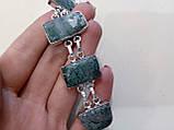 Великолепный браслет с моховым агатом. Браслет моховый агат серебре!, фото 2