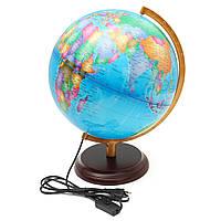 12.5 Всемирная карта земного шара География LED Освещенная для украшения украшений для рабочего стола для детей