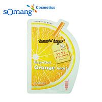 Одноразовая маска Ecopure Essential Orange Juice Sheet mask