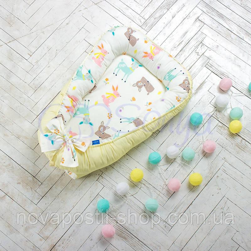 Кокон для новорожденных Baby Design премиум Bambi