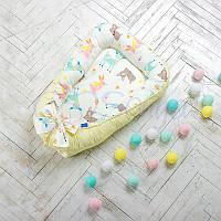 Кокон для новорожденных Baby Design премиум Bambi, фото 1