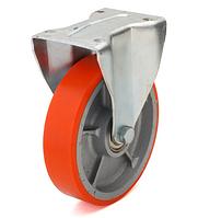 Колеса чугун/полиуретан, диаметр 200 мм с неповоротным кронштейном