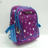 Рюкзак школьный маленький 1755 , малиновый/синий.