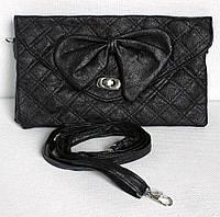 Женская сумочка-клатч. Модель  В-36. Цвет черный.