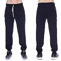 Темно синие спортивные брюки мужские трикотажные на резинке внизу (манжет) ad601f05aeaf6
