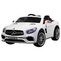 Детский электромобиль Mercedes M 3583 EBLR-1: 2xМеста, 2x35W, 12V7A, EVA, кожа - БЕЛЫЙ - купить оптом , фото 1