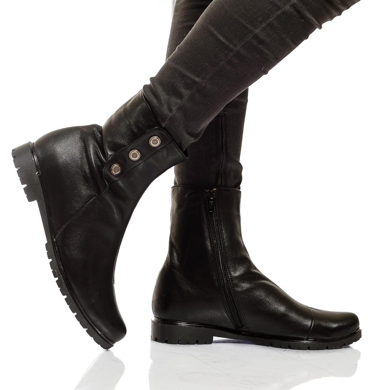 Ботинки на низком ходу, из натуральной кожи, замша на молнии. Размеры 36-41 модель S2116