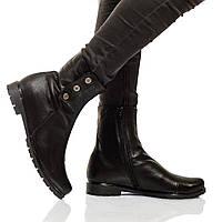 Ботинки на низком ходу, из натуральной кожи, замша на молнии. Размеры 36-41 модель S2116, фото 1