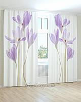Фотошторы нежно-фиолетовые цветы
