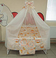 Полный набор для сна из 17 предметов.Детское постельное белье с кроваткой маятник+ящик, матрас, сменка