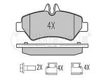 Колодки тормозные (задние) MB Sprinter 209-319 CDI/VW Crafter 30-35 06- (Platinum), код 025 291 9019/PD, MEYLE