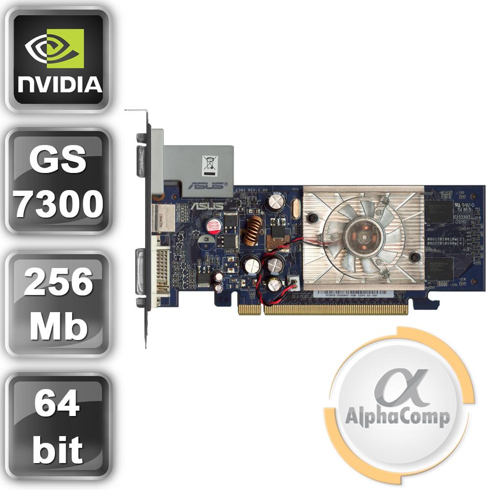 Видеокарта PCI-E NVIDIA Asus 7300GS (256mb/DDR2/64bit/DVI/VGA) БУ