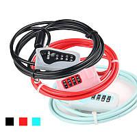 GIYOL-032MПротивоугоннаясистема4-значный код Велосипедный кабель Замок для мотоцикл MTB Road Bike