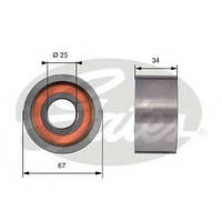 Ролик ГРМ Fiat Ducato 2.5D 86-02/2.8JTD 00-/Iveco/Boxer/Jumper/Movano/Master (паразитный), код T41178, GATES