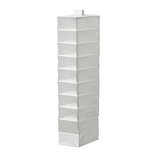 """ИКЕА """"СКУББ"""" Модуль для хранения с 9 отдл, белый, 22x34x120 см"""
