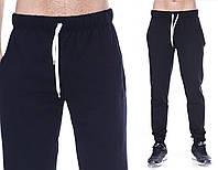 Спортивные штаны мужские трикотажные черные на резинке внизу (манжет) 07a21feafeda1