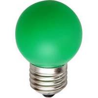 Светодиодная лампа Feron LB-37 G45 E27  1W зеленая  230V Код.58014