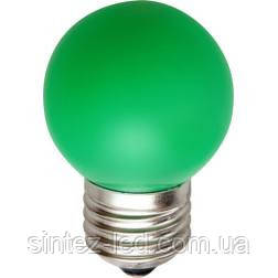 Светодиодная лампа Feron LB-37 G45 E27  1W зеленая  230V Код.58014, фото 2
