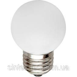 Светодиодная лампа Feron LB-37 G45 E27  1W белая 230V Код.58016, фото 2