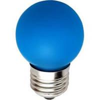 Светодиодная лампа Feron LB-37 G45 E27  1W синяя 230V  Код.58015