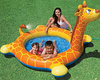 Детский надувной бассейн с фонтанчиком жираф интекс 229х56 см (Intex 57434)