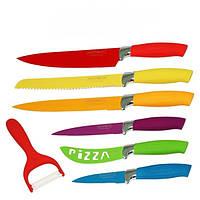 Набор кухонных ножей Royalty Line 7шт. Все в Одном.