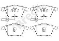 Колодки тормозные (передние) Audi A6 97-05, код 23762 00 701 10, BRECK