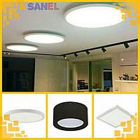 Современный потолочный накладной LED светильник (квадрат, прямоугольник, круг)