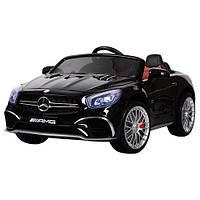 Детский электромобиль Mercedes M 3583 EBLR-2: 2xМеста, 2x35W, 12V7A, EVA, кожа - ЧЕРНЫЙ - купить оптом