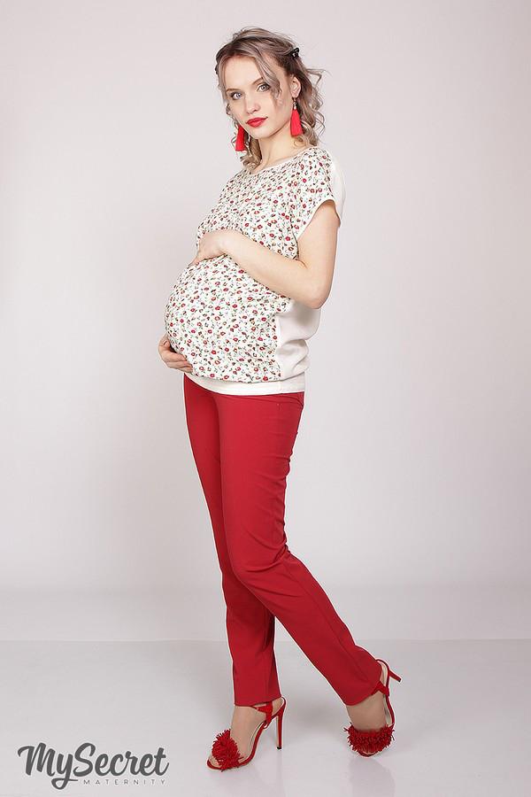 Классические брюки для беременных AVA TR-28.022, красные