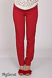Классические брюки для беременных AVA TR-28.022, красные, фото 2
