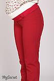 Классические брюки для беременных AVA TR-28.022, красные, фото 4