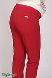 Классические брюки для беременных AVA TR-28.022, красные, фото 5