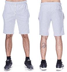Серые спортивные шорты мужские футбольные трикотажные