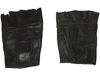 Перчатки атлетические без пальцев кожа