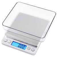 Весы 6295 2кг (0.1) + чаша, весы электронные ювелирные, портативные ювелирные весы, весы до 2 кг
