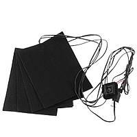 Электрические теплоизоляционные подушки для обогрева мотоцикл Спортивная одежда 5V USB 4 Pad Warming Gear