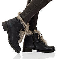 Ботинки на низком каблуке, из натуральной кожи, замша,лак на шнурках. Четыре цвета! Размеры 36-41 модель S2226, фото 1