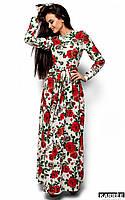 Женское платье в пол с розами (Техасkr)