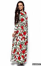 Женское платье в пол с розами (Техасkr), фото 2