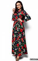 Женское платье в пол с розами (Техасkr), фото 3