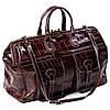 Сумка дорожная саквояж кожаный коричневый Eminsa 6519-4-3, фото 4