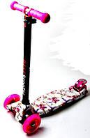 Детский самокат Maxi Scale Scoter Лилии